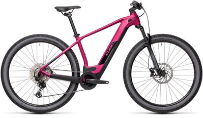 "E-bicykel CUBE Reaction Hybrid Race 625 29"" berry/black 2021"