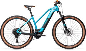 E-bicykel CUBE Reaction Hybrid Pro 500 petrol/orange 2021 trapez