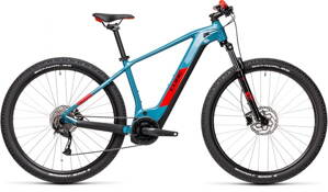 E-bicykel CUBE Reaction Hybrid Performance 500 blue/red 2021