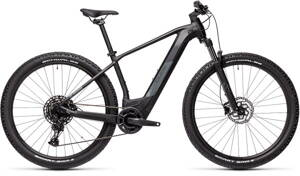 E-bicykel CUBE Reaction Hybrid Pro 625 black/grey 2021