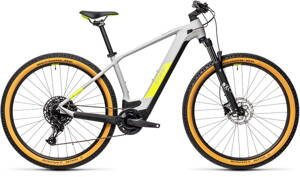 E-bicykel CUBE Reaction Hybrid Pro 500 grey/yellow 2021