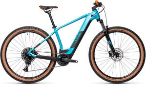 E-bicykel CUBE Reaction Hybrid Pro 500 petrol/orange 2021